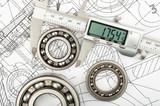 Measurement of diameter of the bearing poster