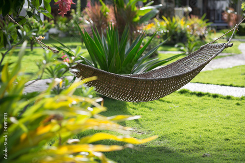 Hammock on a tropical resort