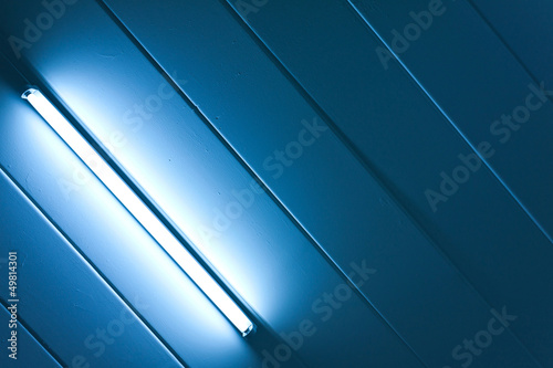 Blue light fluorescent of lamp