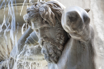 europe, italy, sicily, Catania, Amenano fountain