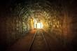 Underground mine passage with rails - 49815154