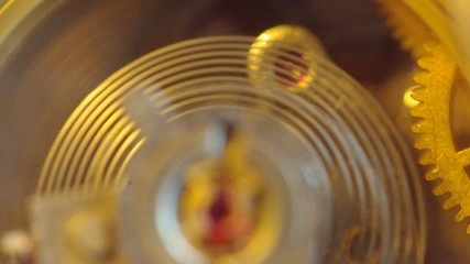 Clockwork extreme closeup. Macro