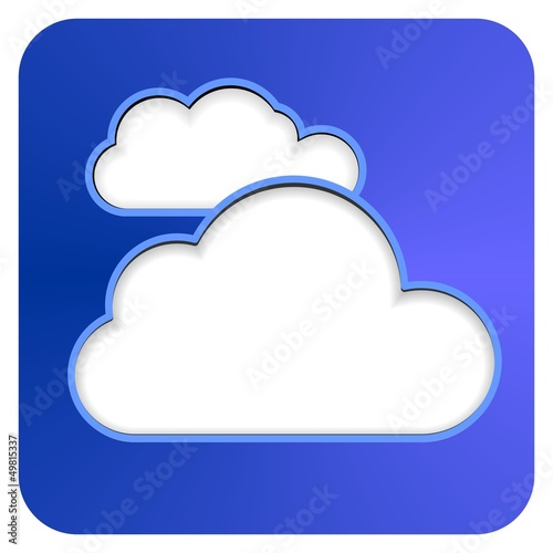 cloud button blue