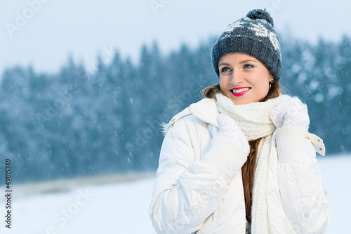 Woman and winter