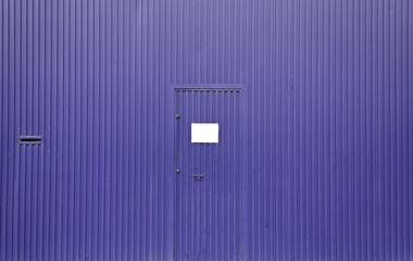 Metallic facade