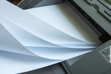 Press process on clean sheets of paper