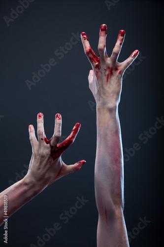 Zombie bloody hands