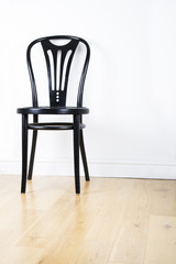 Single black modern chair