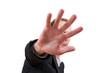 Hand symbolisiert Abwehr