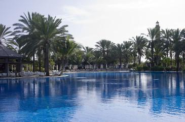 Blue water pool.
