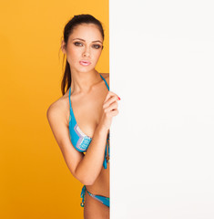 brunette bikini girl