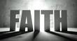 Faith word with shadow, background