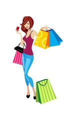 beautiful ladies who shop with credit card
