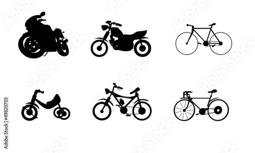 bike motorcycle silhouettes