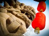 Lion and lanterns - 49821756