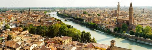 Leinwanddruck Bild panorama of Verona