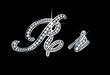 Script Diamond Bling Rr Letters