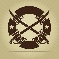 Vintage Seal with Crossed Swords