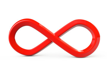 Red infinity symbol