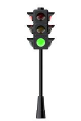 3d render traffic lights