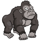 illustration of Gorilla Cartoon