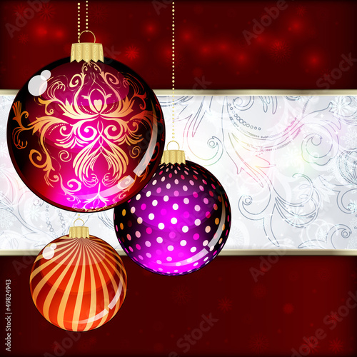 Background with Christmas balls.