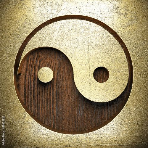 golden sign on wooden wall
