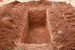 Leinwanddruck Bild - Open grave