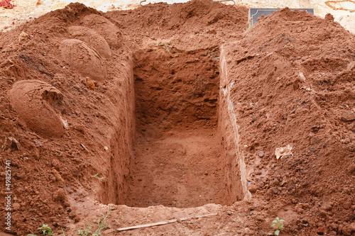 Fotobehang Begraafplaats Open grave