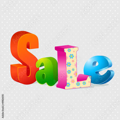 Colorful sale 3d letters