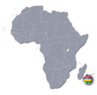 Afrikakarte Mauritius