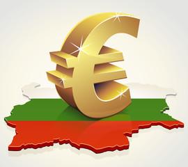L'Euro en Bulgarie (reflet)