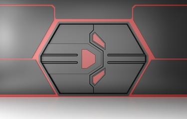 Futuristic gate