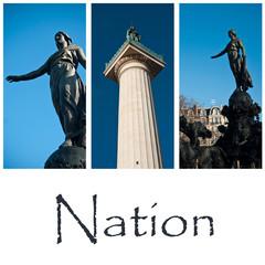 composition place de la Nation à Paris