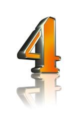 3d golden sign 4