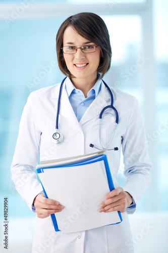 Clinician with documents