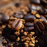 Fotoroleta Kaffee, Bohnen, Löslich
