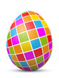 Osterei, Ostern, Ei, Zeichen, Symbol, Quadrate, farbig, bunt, 3D