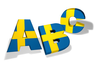 Abc Swedish School Concept