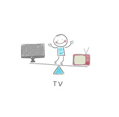 TV and man
