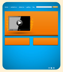 tablet website template