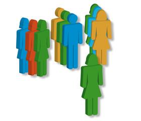 Figuren, Gruppe, Coaching, Gespraech, Therapie