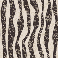 Tribal art. African stile seamless pattern