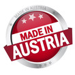 "Button mit Banner "" MADE IN AUSTRIA """
