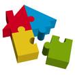 3D Puzzle Haus mit losem Teil