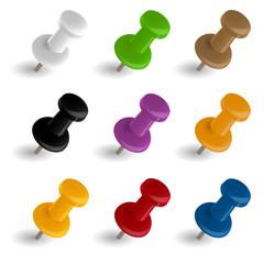 Sammlung PINs - 9 Farben