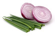 Red Onions and Fresh Scallion