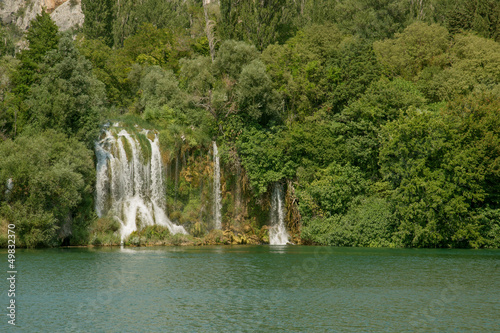 Roski Slap waterfalls in Krka national park in Croatia