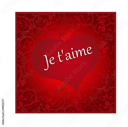 Beautiful red love hearts background