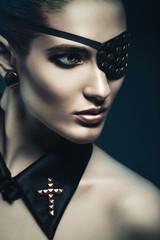 dangerous woman with eye-patch